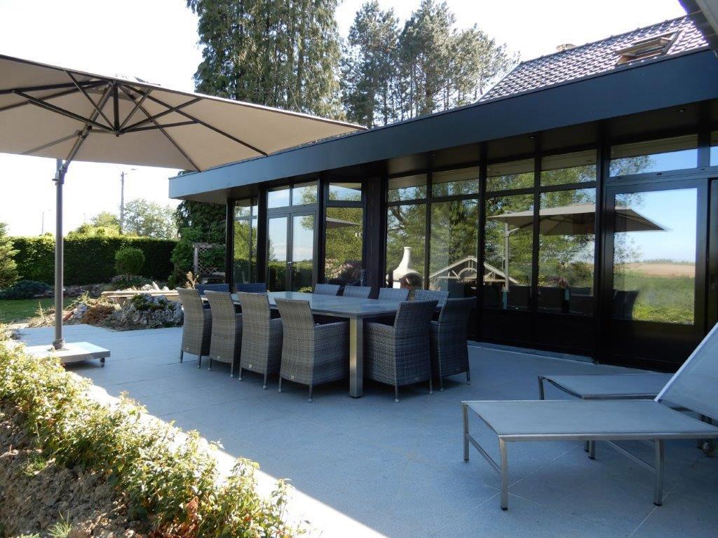 Vakantiehuis Bel Horizon met aanbouw veranda met zicht op tuin